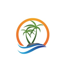 Palm logo template vector