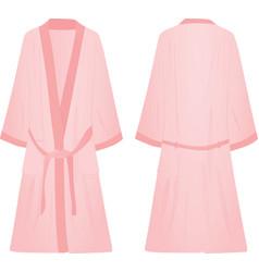 pink bathrobe vector image