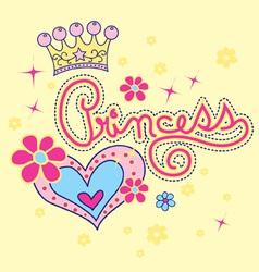 Princess and love vector