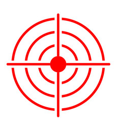 Red target icon on white background target icon vector