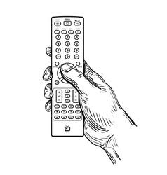 remote control in hand vector image