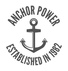 Retro vintage nautical label and badge logo vector