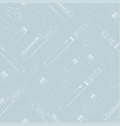 Seamless light vape pattern vector