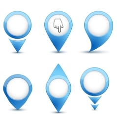 Set of map mark icons vector image