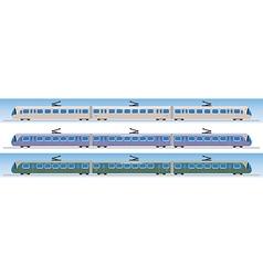 Side view of tram car or trolley car flat design vector