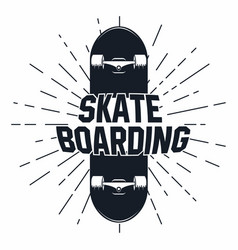 skateboarding t shirt graphic urban skating vector image vector image