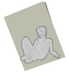 Sketch boy paper vector image