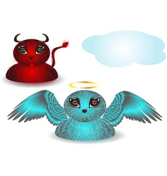 strange angel and demon vector image