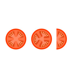 tomato slices flat icons for food decor vector image