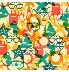 Travel and tourism seamless pattern vector image vector image