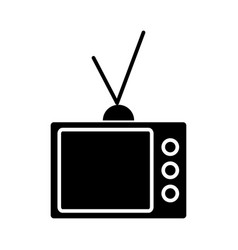 Tv vintage televisor icon vector