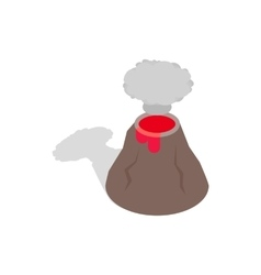 Volcano erupting icon isometric 3d style vector image