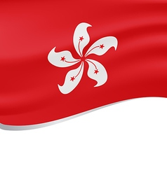 Waving flag of Hong Kong isolated on white vector image vector image
