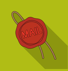 Wax sealmail and postman single icon in flat vector