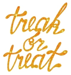 Lettering treak or treat tinsels vector image