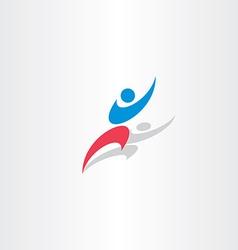winner man logo icon happy sign vector image