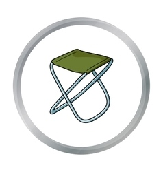 Folding stool icon in cartoon style isolated on vector