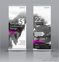 Design of a roll up vertical banner vector