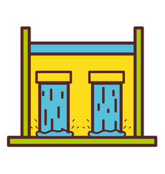 Water tank to reserve and ecology care vector