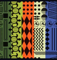 Multicolored striped aloha ornament seamless vector