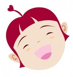 Cartoon girl icon vector