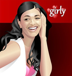 girly vector image