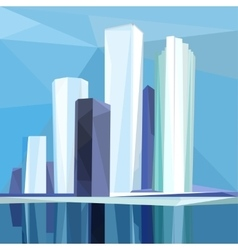 Polygonal city vector
