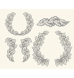 Set of hand drawn decorative elements for design vector