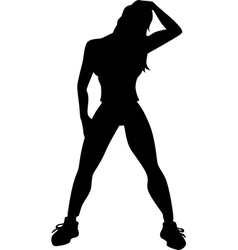 Woman stretching vector
