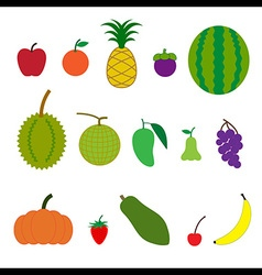 Fruit cartoon style vector