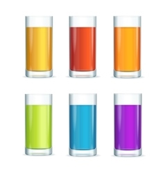 Colorful cocktail glasses set vector