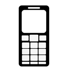 Cellphone with several buttons below screen icon vector