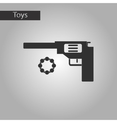 Black and white style toy pistol vector