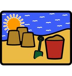 Bucket spade vector image