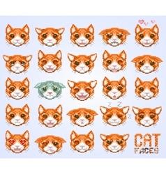 Cat faces emoticon vector