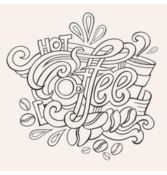 coffee hand lettering sketch vector image vector image