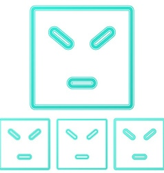 Color line anger logo design set vector