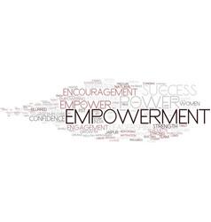 Empowerment word cloud concept vector