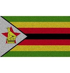 Flags zimbabwe on denim texture vector