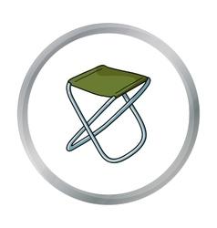 Folding stool icon in cartoon style isolated on vector
