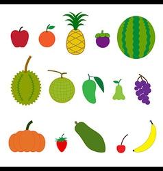 Fruit cartoon style vector