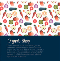 fruits and vegetables vector image vector image