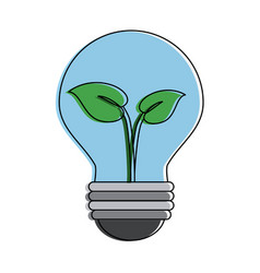 green energy bulb symbol vector image