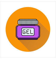 Hair gel simple icon on circle background vector