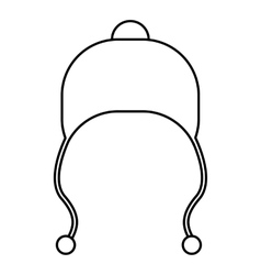 Hat with laces icon outline style vector