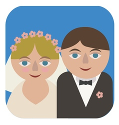 Maried couple vector