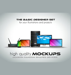 Modern devices mockups for your business projects vector image vector image