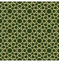 Moroccan gold seamless vector image