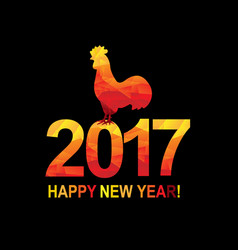 New year postcard with rooster vector