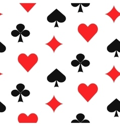 Playing card suits seamless pattern vector